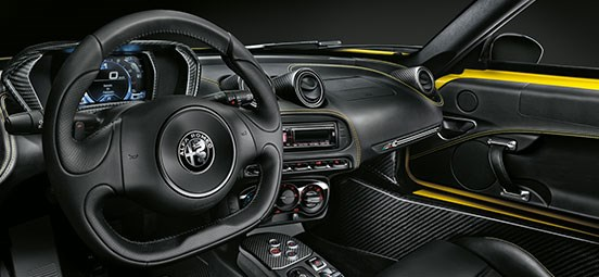 4C Spider Racing Interior
