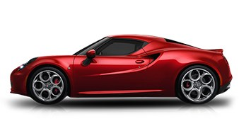 Alfa Romeo 4C Coupe Red Exterior