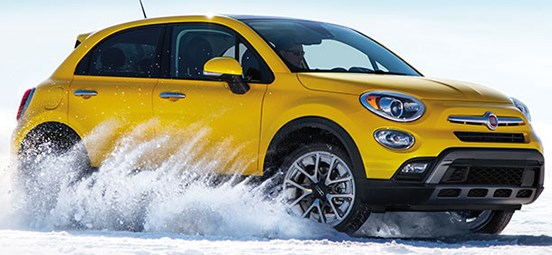 Yellow Fiat 500X AWD