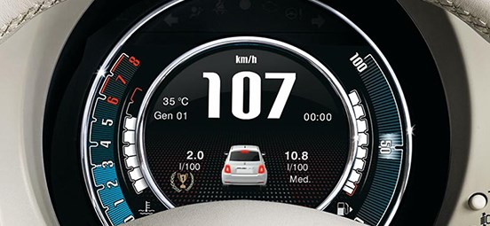 Fiat 500C 7 Inch Display
