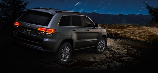 Jeep Grand Cherokee Silver Exterior Rear Profile