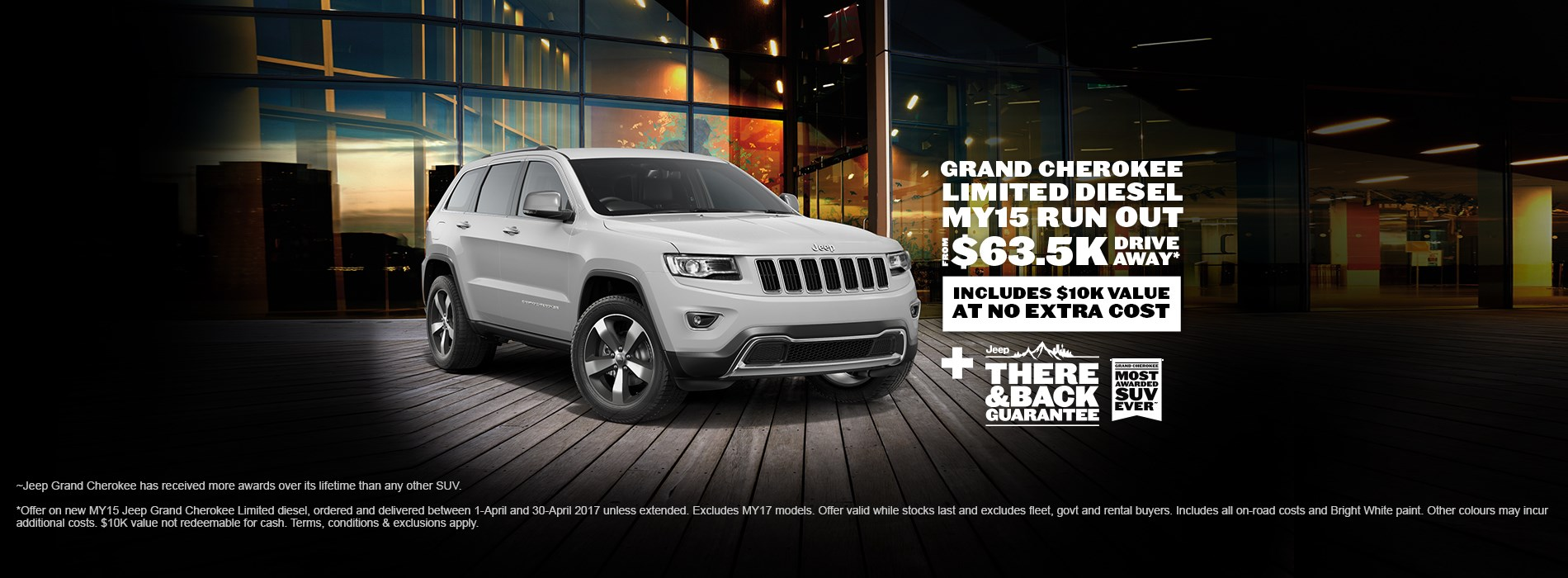 Jeep Grand Cherokee Limited Diesel $63.5K Drive Away Offer