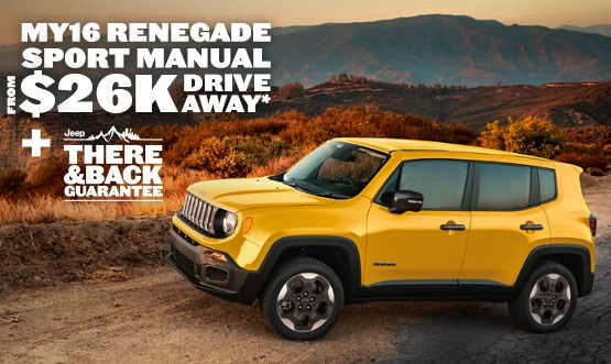 Jeep Renegade Sport Manual $26K Drive Away Offer