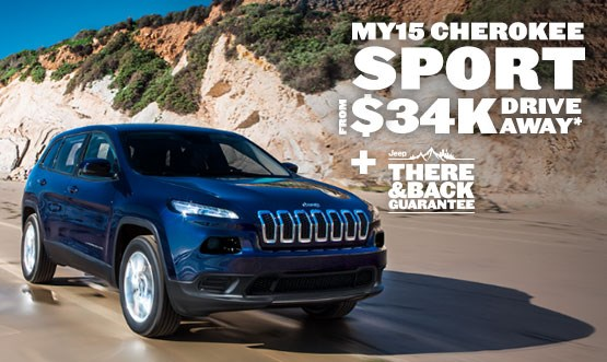 Jeep Cherokee Sport $34K Drive Away Offer