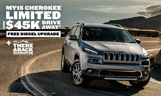 Jeep Cherokee Limited $45K Drive Away Offer