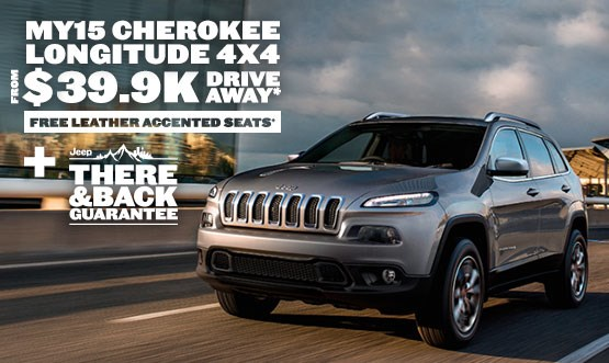 Jeep Cherokee Longitude $39.9K Drive Away Offer