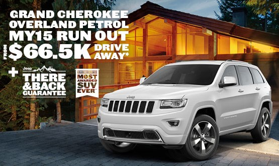 Jeep Grand Cherokee Overland Petrol $66.5K Drive Away Offer
