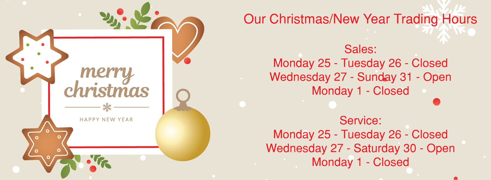 Blacktown Christmas Hours