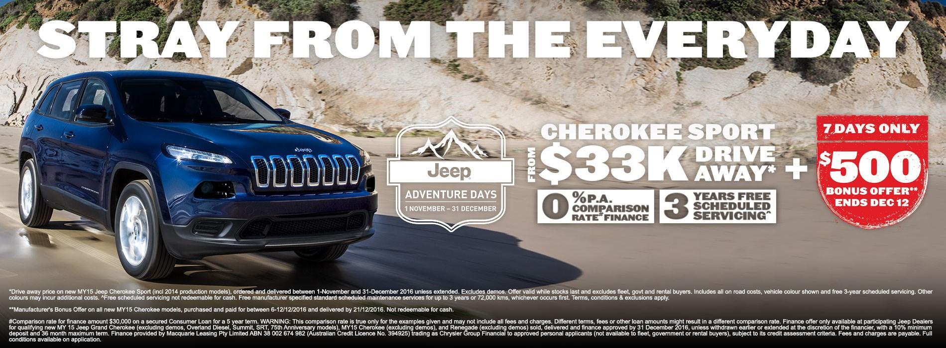 Jeep Cherokee Sport Offer