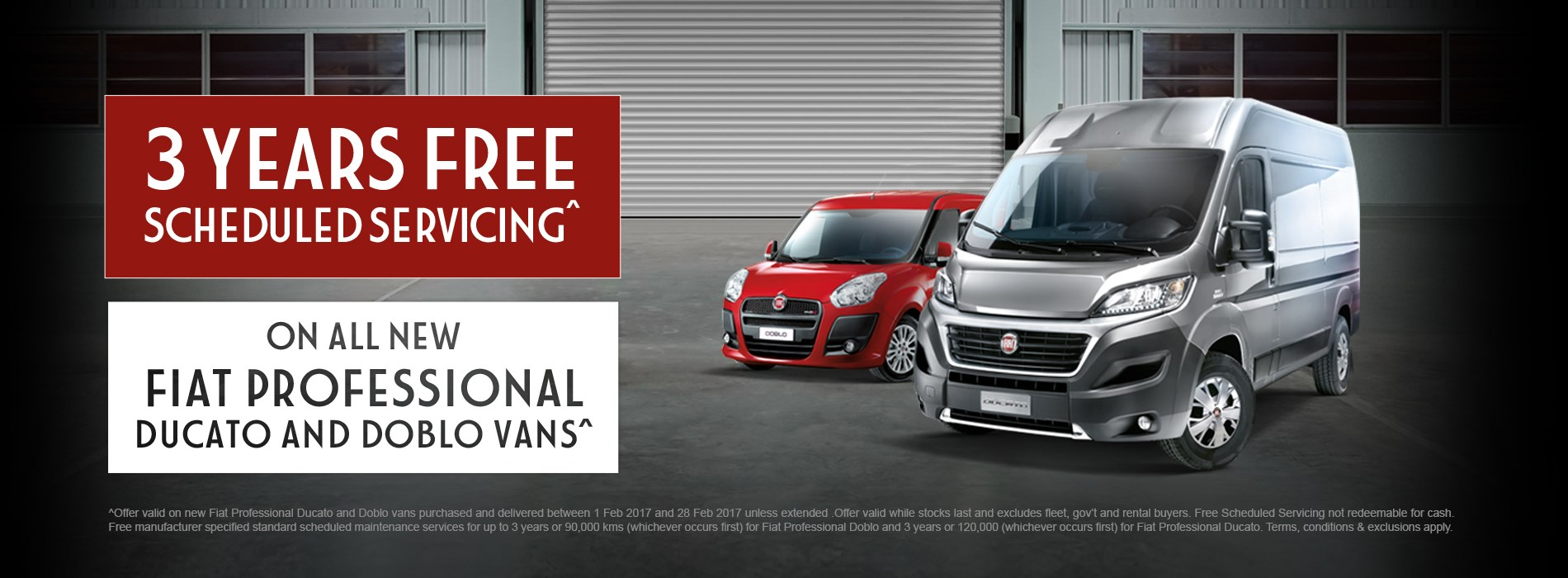 Fiat Professional Ducabo Doblo 3 Years Servicing Offer