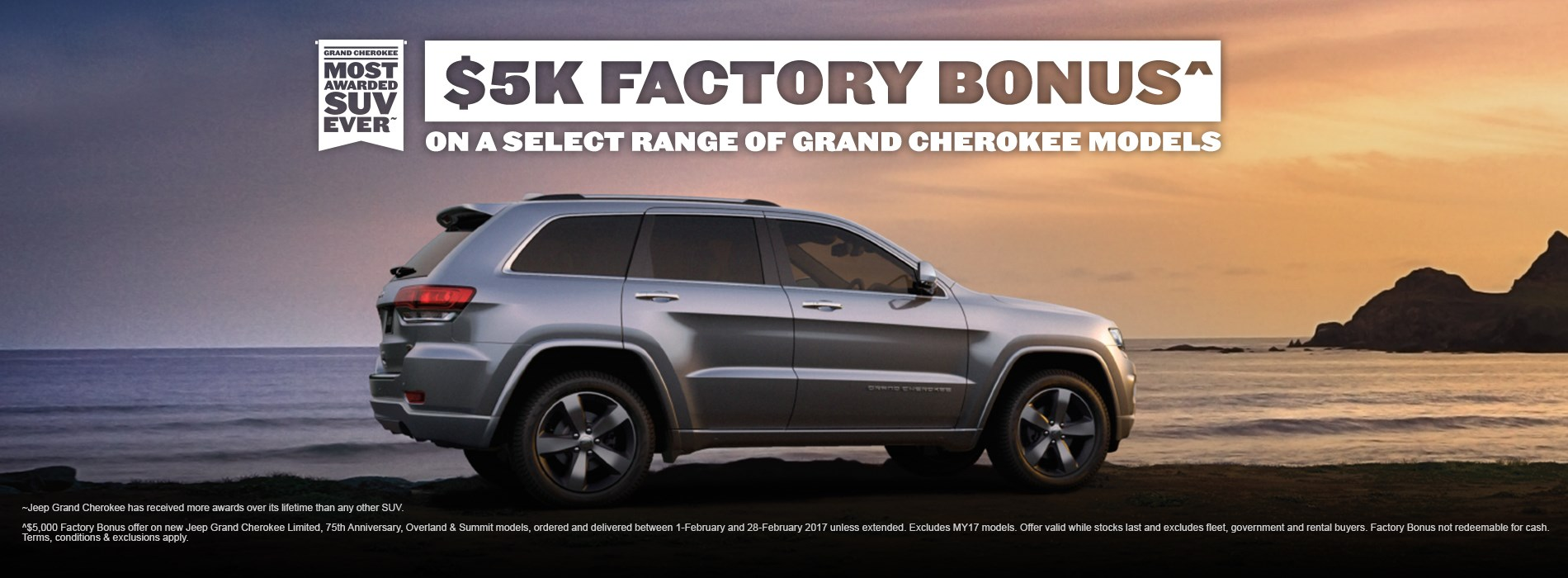 Jeep Grand Cherokee $5K Factory Bonus Offer