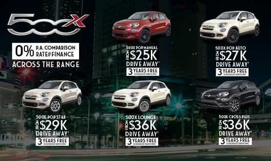 Fiat 500X Range Drive Away Offers