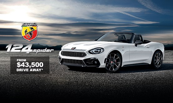 Abarth 124 Spider $43.5K Drive Away Offer