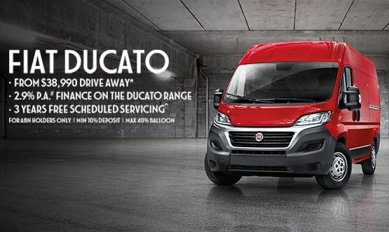 Fiat Professional Ducato $38,990 Drive Away Offer