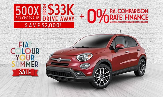 Fiat 500X Cross Plus $33K Drive Away Offer