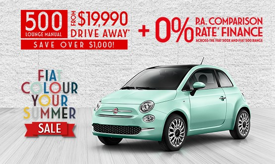 Fiat 500 Lounge Manual $19.9K Drive Away Offer