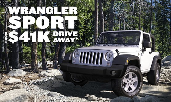 Jeep Wrangler Sport $41k Drive Away Offer
