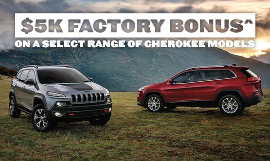 Jeep Cherokee Range Factory Bonus Offer
