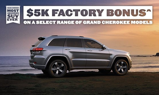 Jeep Grand Cherokee Range Factory Bonus Offer