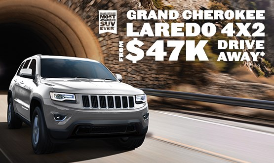 Grand Cherokee Laredo $47k Drive Away Offer