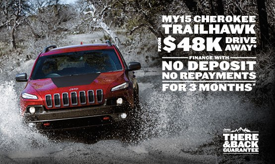 Jeep Cherokee Trailhawk MY15 $48k Drive Away Offer