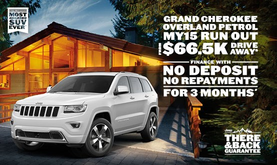 Jeep Grand Cherokee Overland Petrol MY15 $66.5K Drive Away Offer