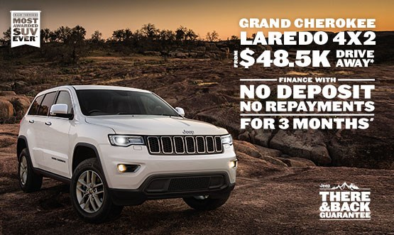 Jeep Grand Cherokee Laredo 4x2 $48.5K Drive Away Offer