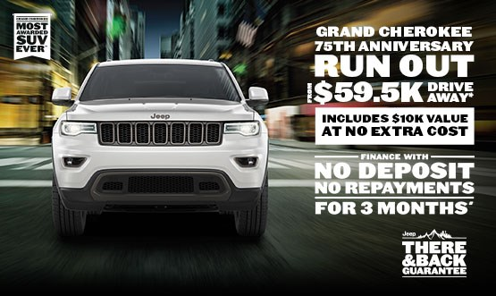 Jeep Grand Cherokee 75th Anniversary $59.5K Drive Away Offer