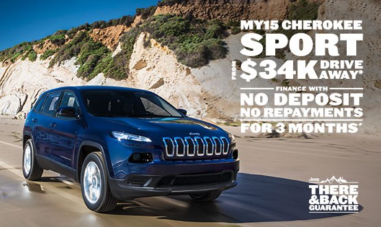 Jeep Cherokee Sport MY15 $34k Drive Away Offer