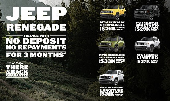 Jeep Renegade MY16 Range Finance Offer