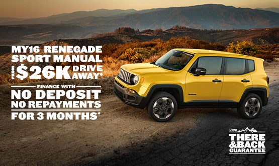 Jeep Renegade MY16 Sport Manual $26K Drive Away Offer