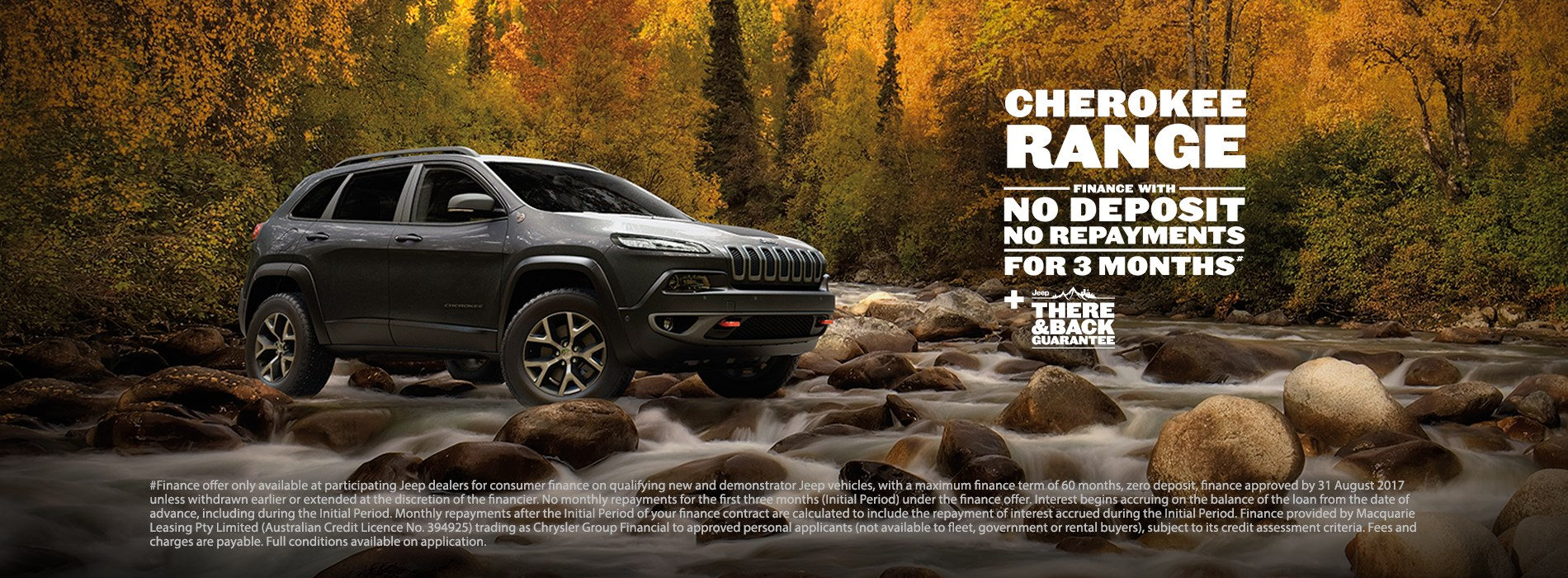 Jeep Cherokee Range No payments for 3 months offer