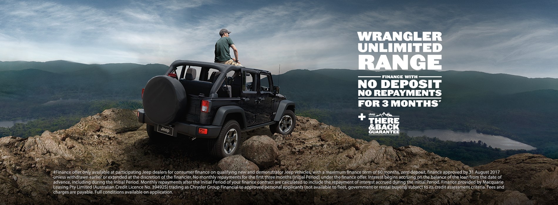 Jeep Wrangler Unlimited Range No payments for 3 months offer