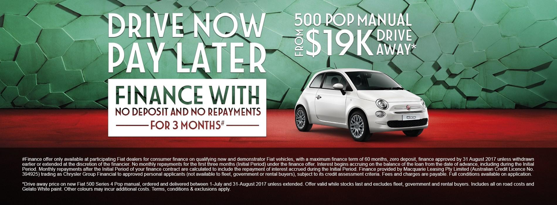Fiat 500 Pop Manual $19K Drive Away Offer