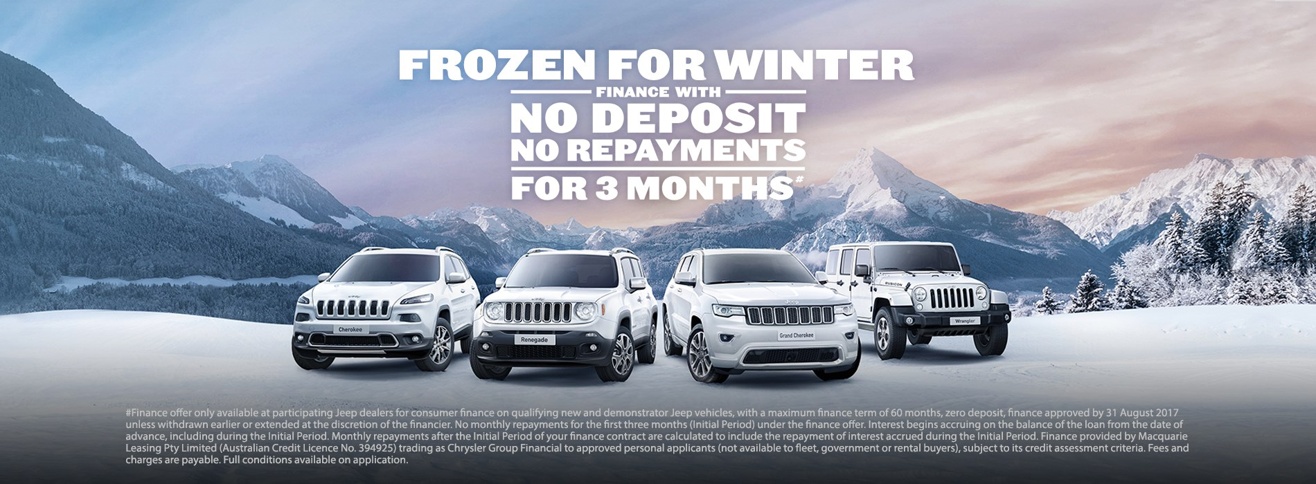 Jeep Frozen for Winter Sales Event