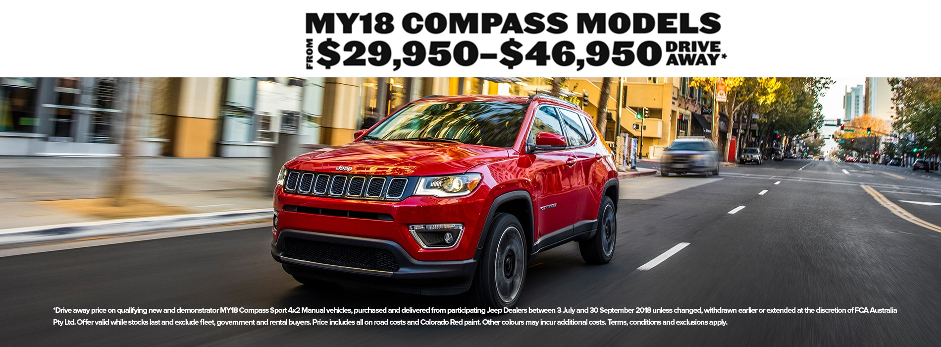 Jeep Compass Drive Away Offers