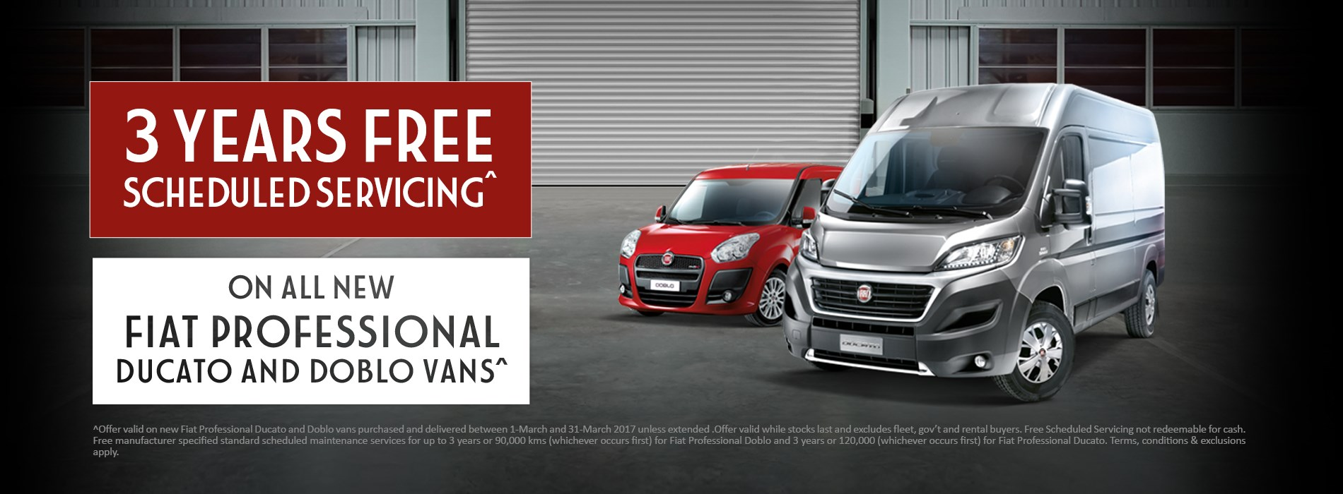 Fiat Professional 3 Years Free Servicing Offer
