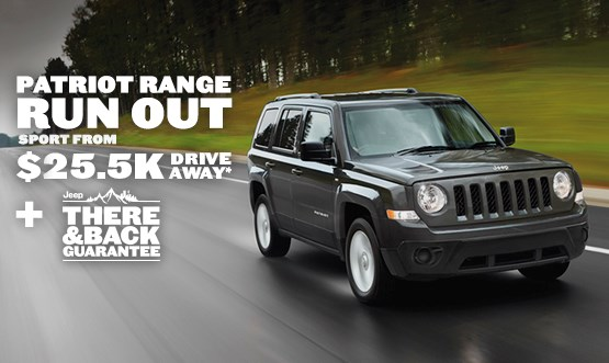 Jeep Patriot Sport $25.5K Drive Away Offer
