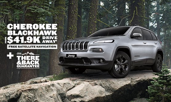 Jeep Cherokee Blackhawk $41.9K Drive Away Offer