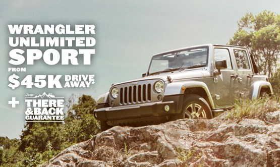 Jeep Wrangler Unlimited Sport $45K Drive Away Offer