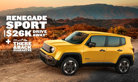 Jeep Renegade Sport $26k Drive Away Offer