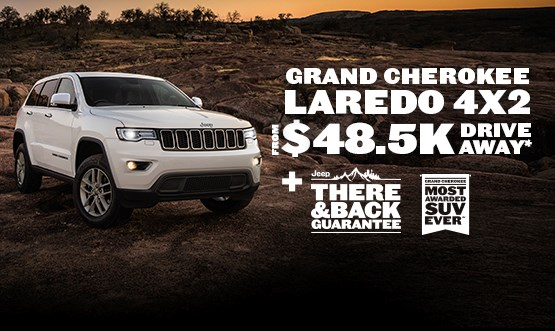Jeep Grand Cherokee Laredo $48.5K Drive Away Offer