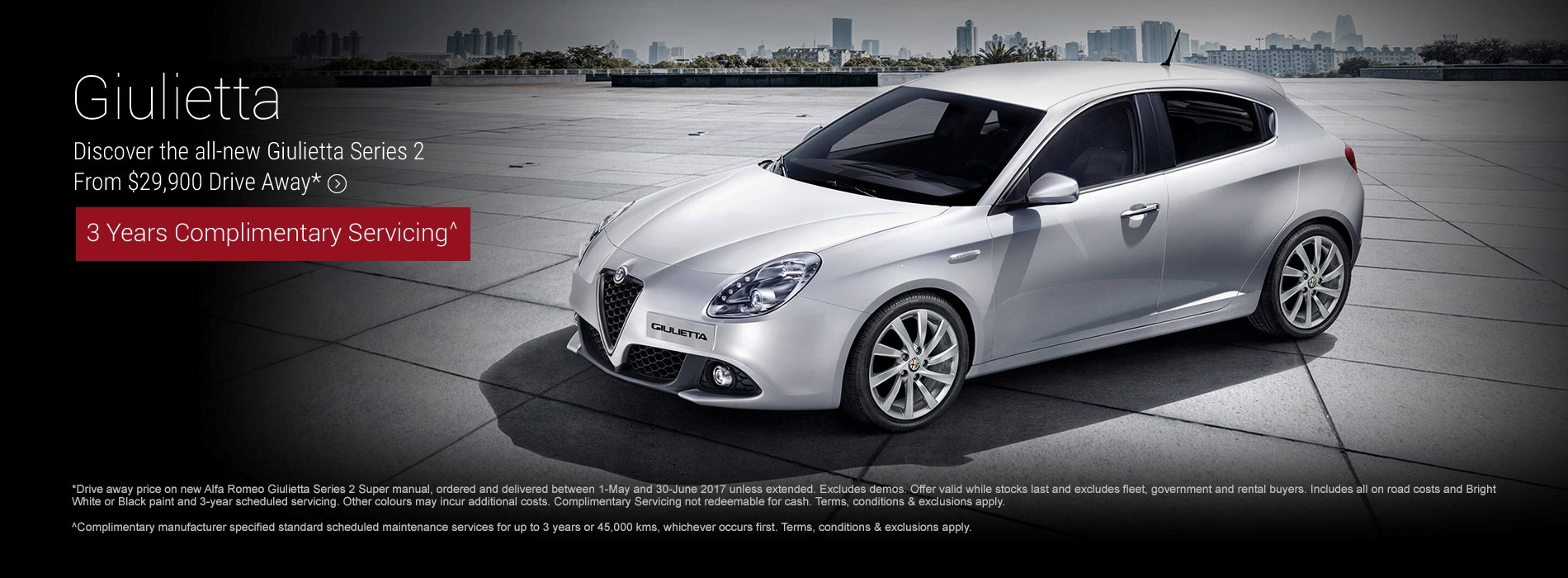 Alfa Romeo Giulietta Series 2 $29.9k Drive Away Offer