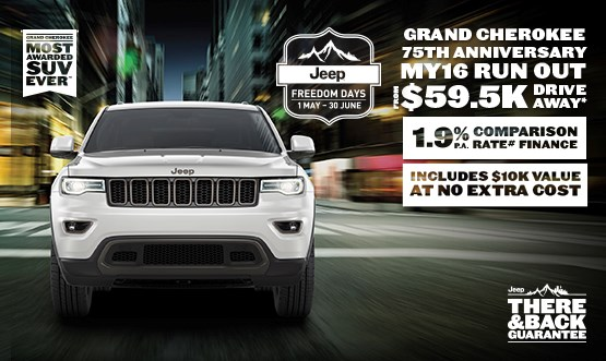 Jeep Grand Cherokee 75th Anniversary MY16