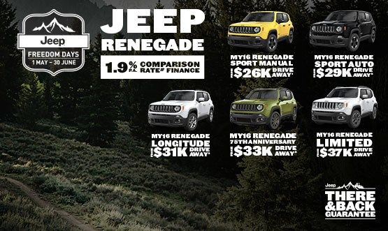 Jeep Renegade Range