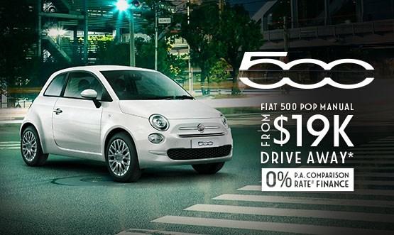 Fiat 500 Pop Manual $19k Drive Away