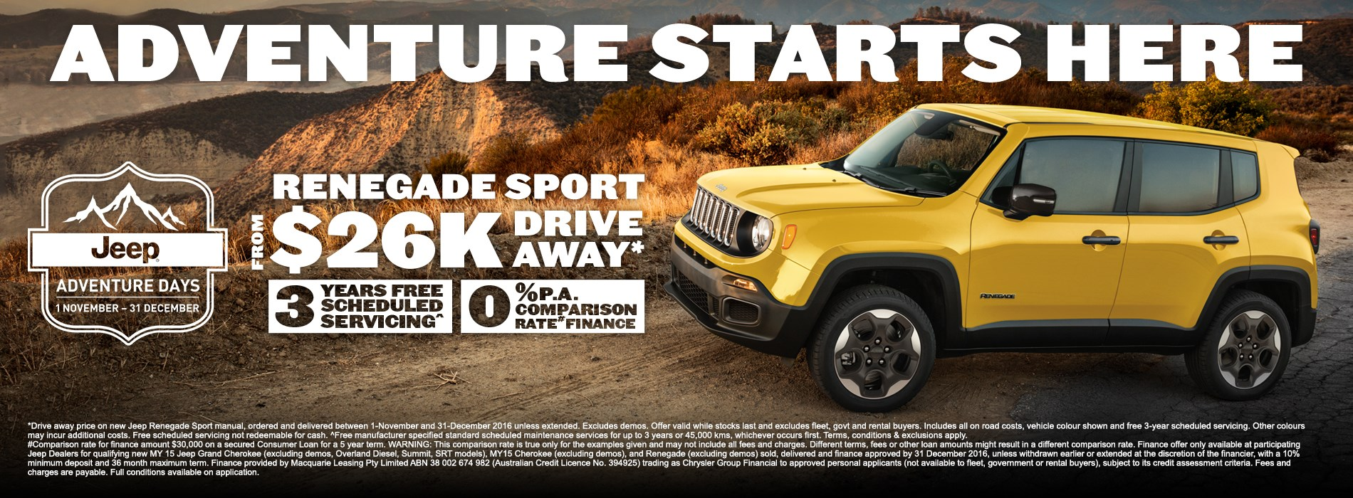 Jeep Renegade Sport Offer