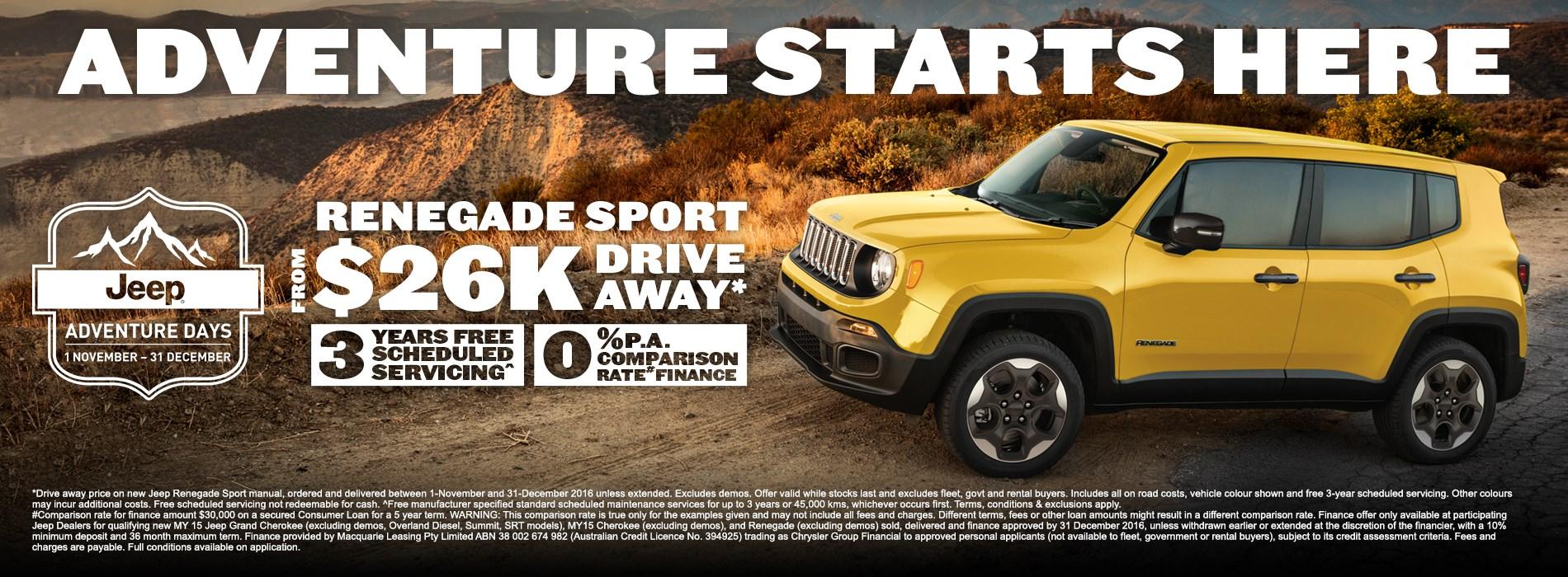Jeep Renegade Sport Offer