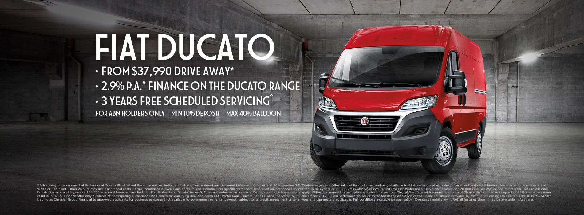 Fiat Ducato $37.9K Drive Away Offer