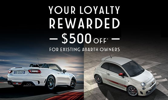 Abarth Loyalty Offer